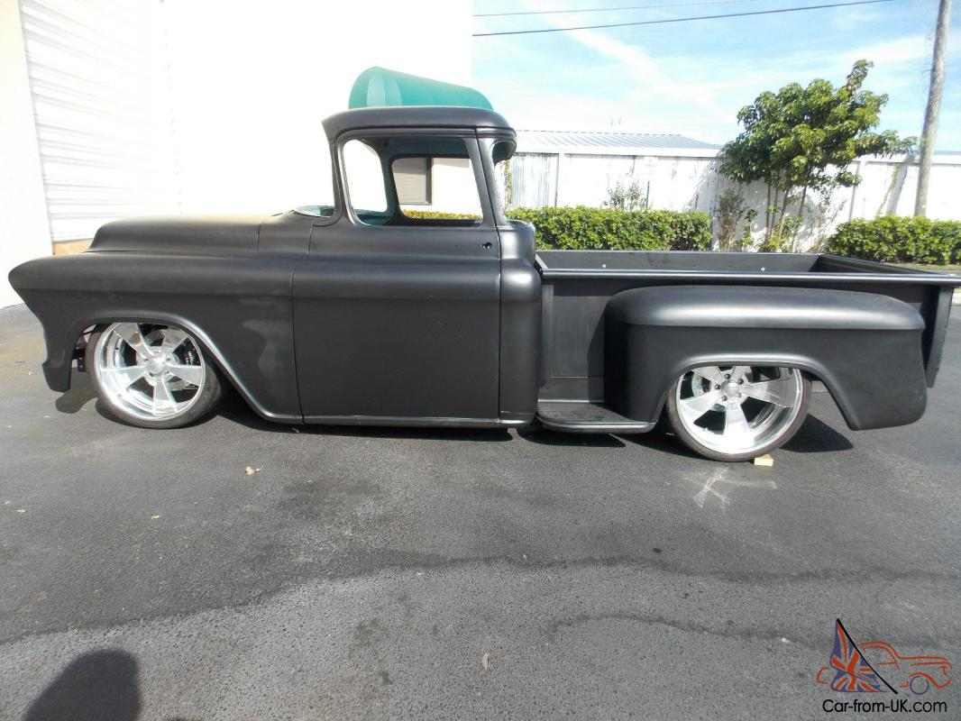 chevrolet pro touring resto mod bagged air ride custom 1956 chevy pickup muscle. Black Bedroom Furniture Sets. Home Design Ideas