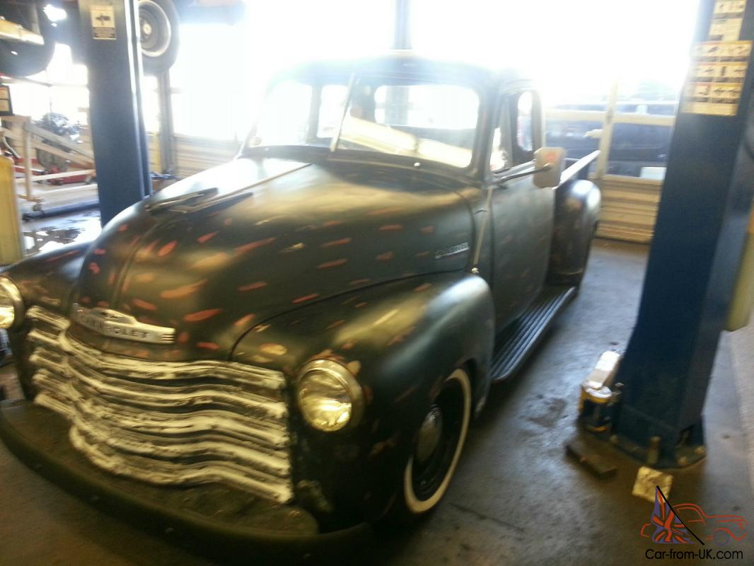 1950 Chevy Pickup Engine Swap Ls Swapped 1951 3100 Truck Frames From Six To Eight