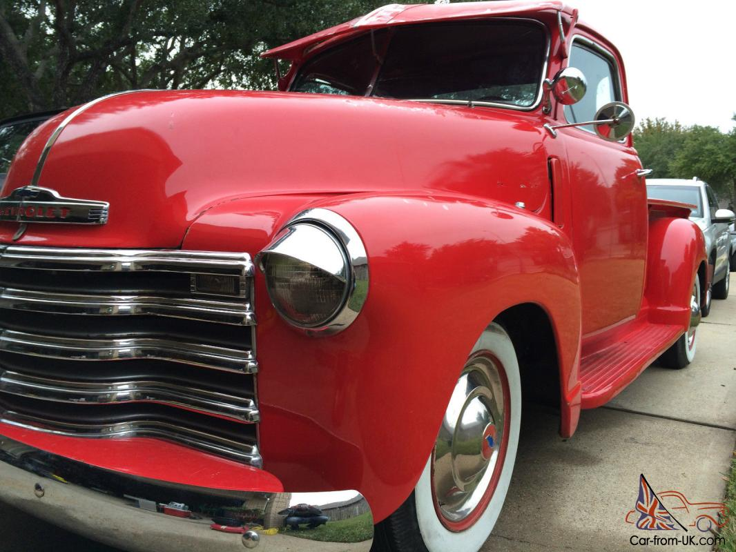 1953 red 3100 chevy 5 window pickup with a v8 for 1953 5 window chevy truck for sale