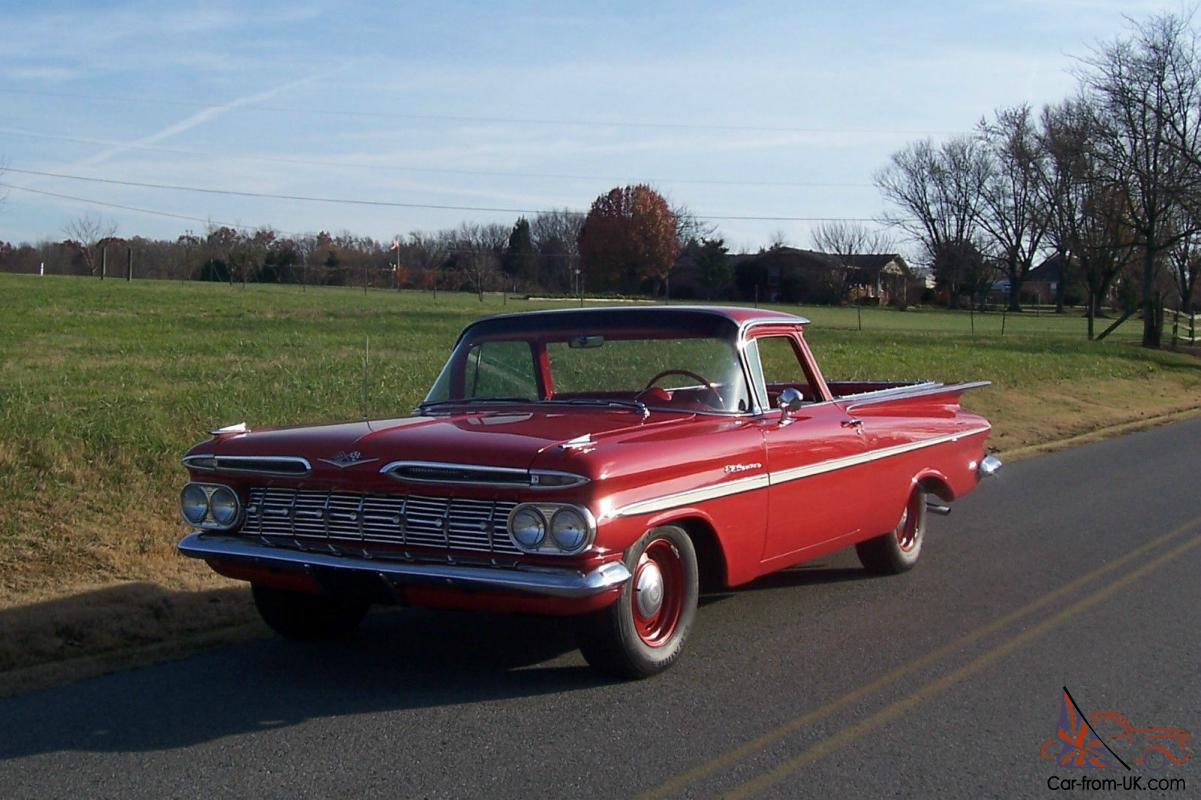 59 chevy el camino 348 4 speed rust free hot rod. Black Bedroom Furniture Sets. Home Design Ideas