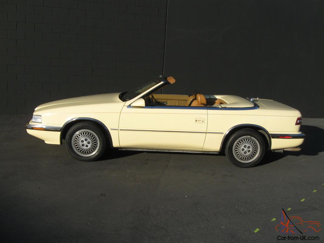 1989 chrysler tc by maserati mint condition california low miles no. Cars Review. Best American Auto & Cars Review