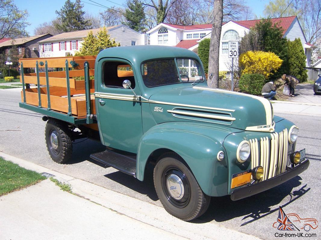 1947 Ford Stakebed Pick Up Truck Completley Restored Original Rare 1948 Flathead 6 8 Photo