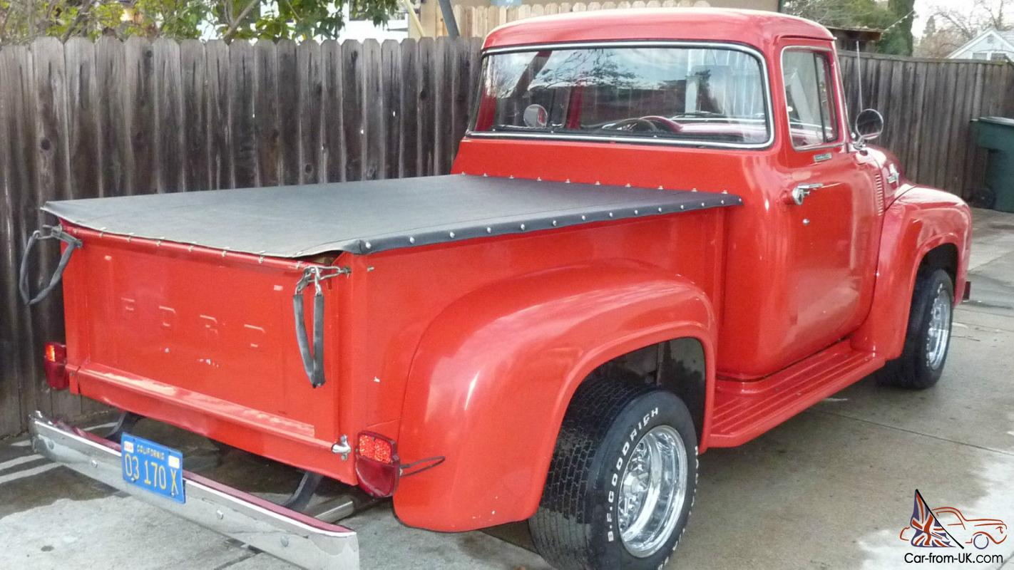 1956 ford f100 factory custom cab big window truck for 1956 ford big window