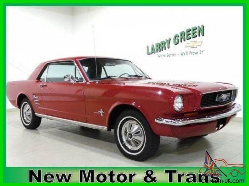 Classic mustang red on black built motor vintage financing for Cottonwood motors auto transport