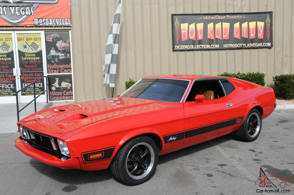 1973 Mustang Real Mach 1 Red With 351 Cleveland Motor