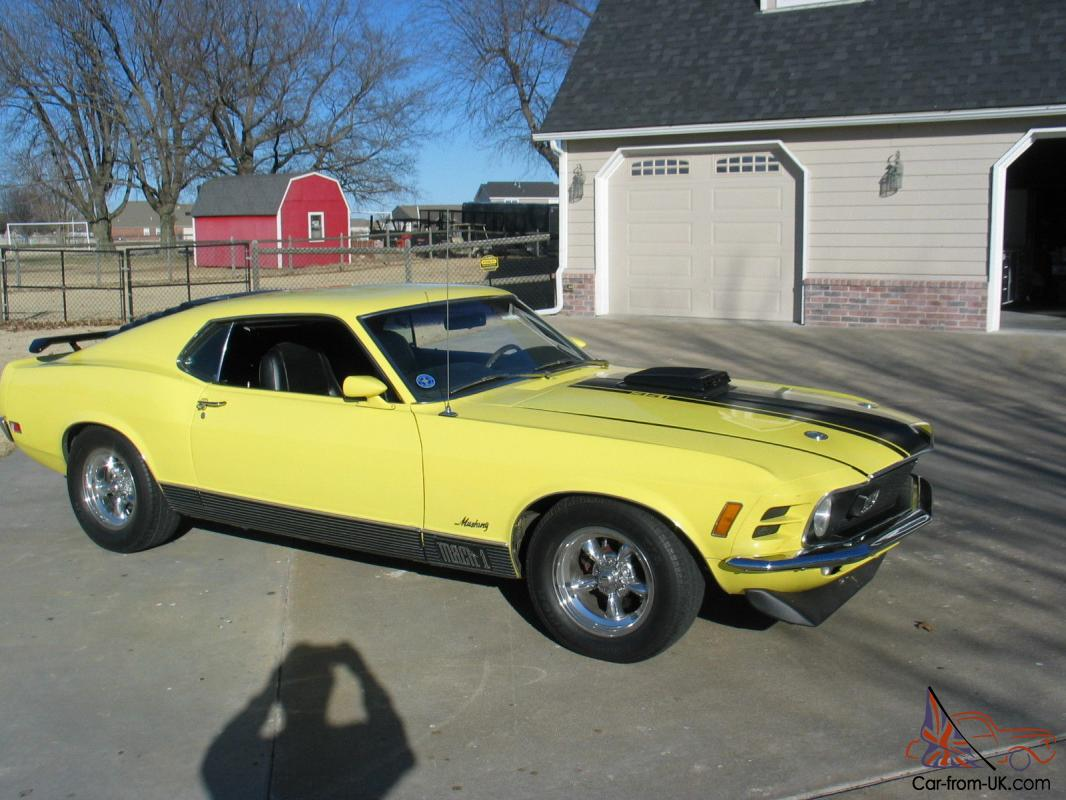 1970 ford mustang mach i fastback 2 door 5 8l photo