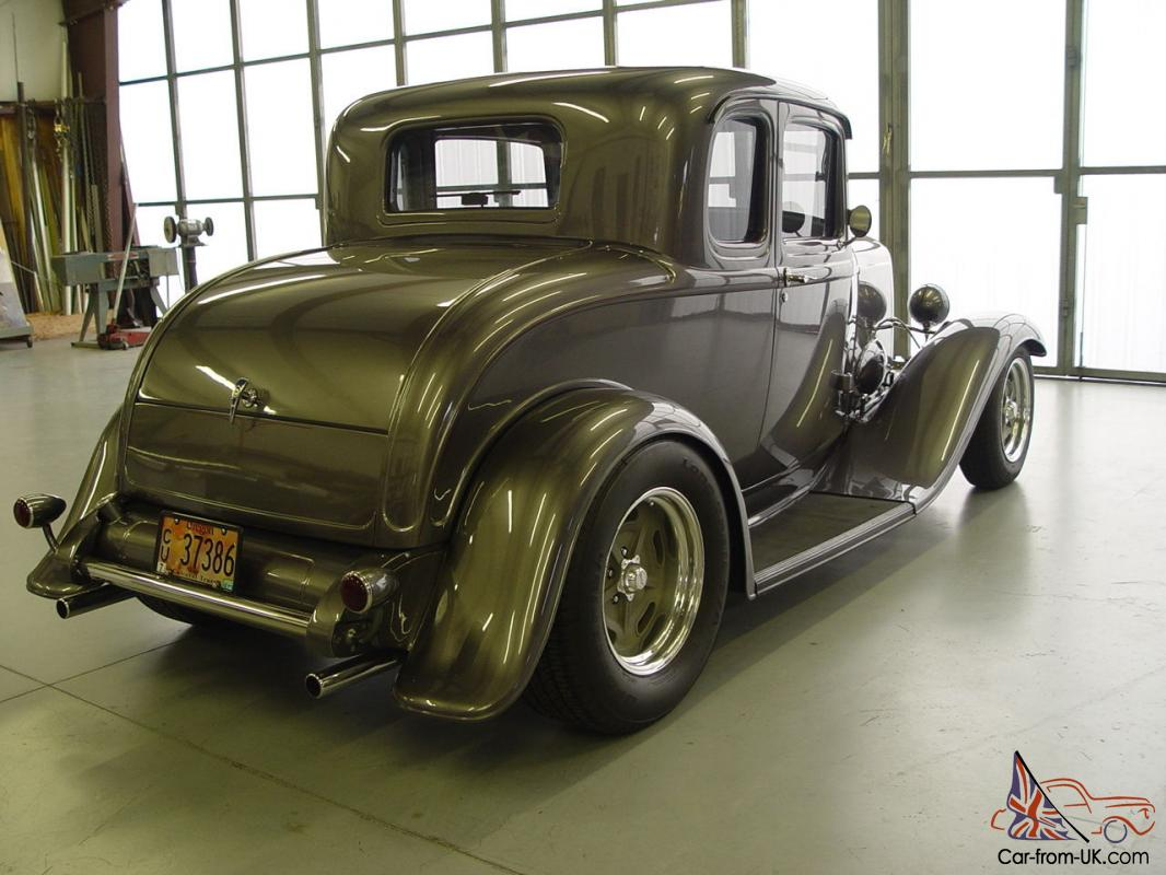 1932 ford 5 window coupe all steel hot rod gray metalic for 1932 5 window ford coupe