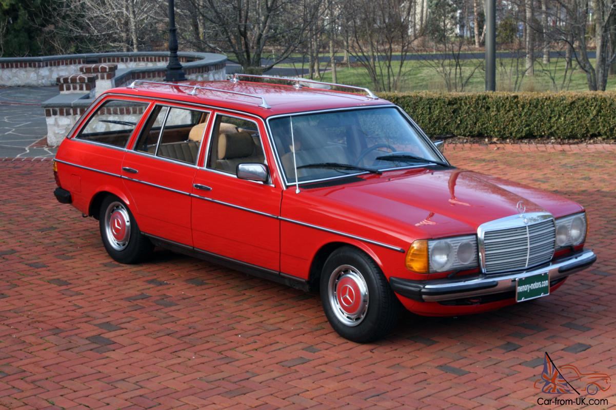 1981 mercedes benz w123 euro 4 speed 300td 5 cyl diesel for Mercedes benz diesel wagon