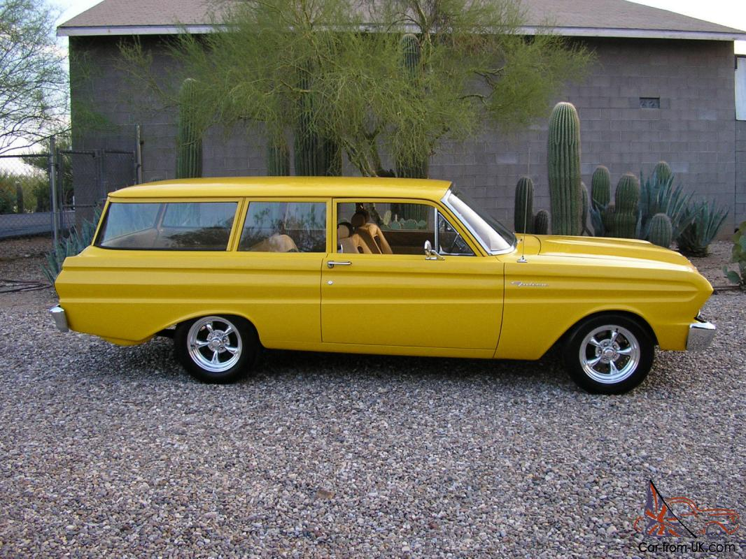 1964 ford falcon 2 door wagon new crate motor restored