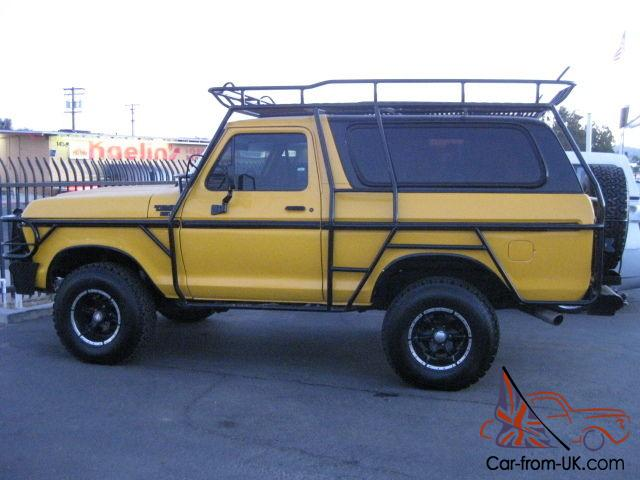 1979 Ford Bronco Chase Truck V8 Atuomatic 4X4 Full Exxo ...