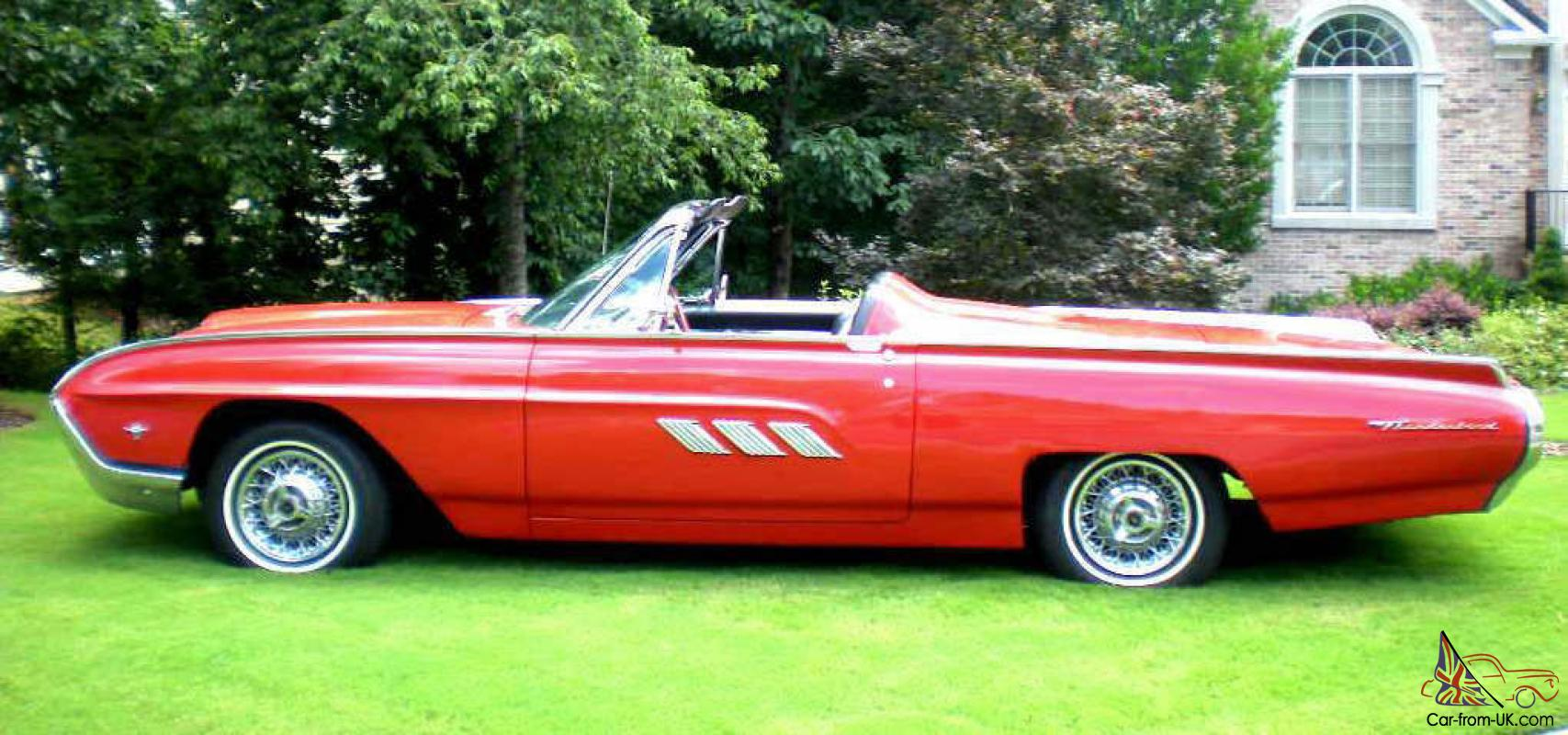 1963 ford thunderbird tbird convertible sports roadster. Black Bedroom Furniture Sets. Home Design Ideas