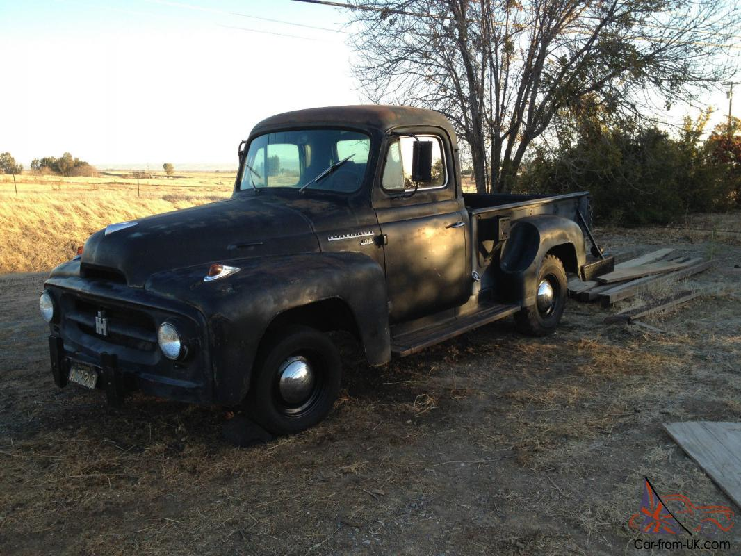 1955 International R 100 1 2 Ton Short Bed Step Side Pickup Truck Ford F100 Mirrors Project