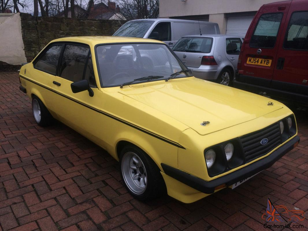 1980 ford escort rs 2000 custom yellow just resprayed full mot no reserve. Black Bedroom Furniture Sets. Home Design Ideas