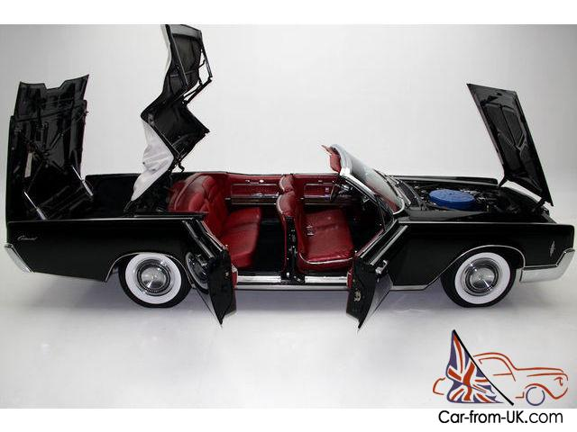 1966 JET BLACK LINCOLN CONTINENTAL WITH SUICIDE DOORS Photo