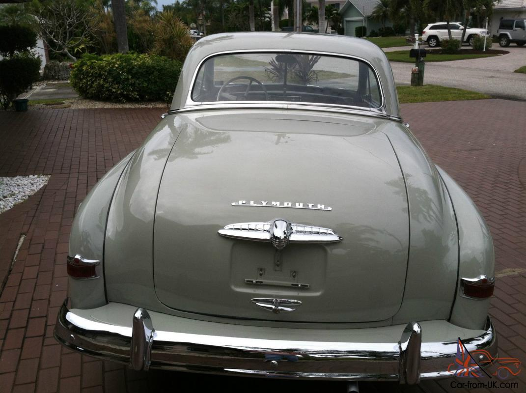 1950 Plymouth Seats : Plymouth deluxe business coupe k orignal miles