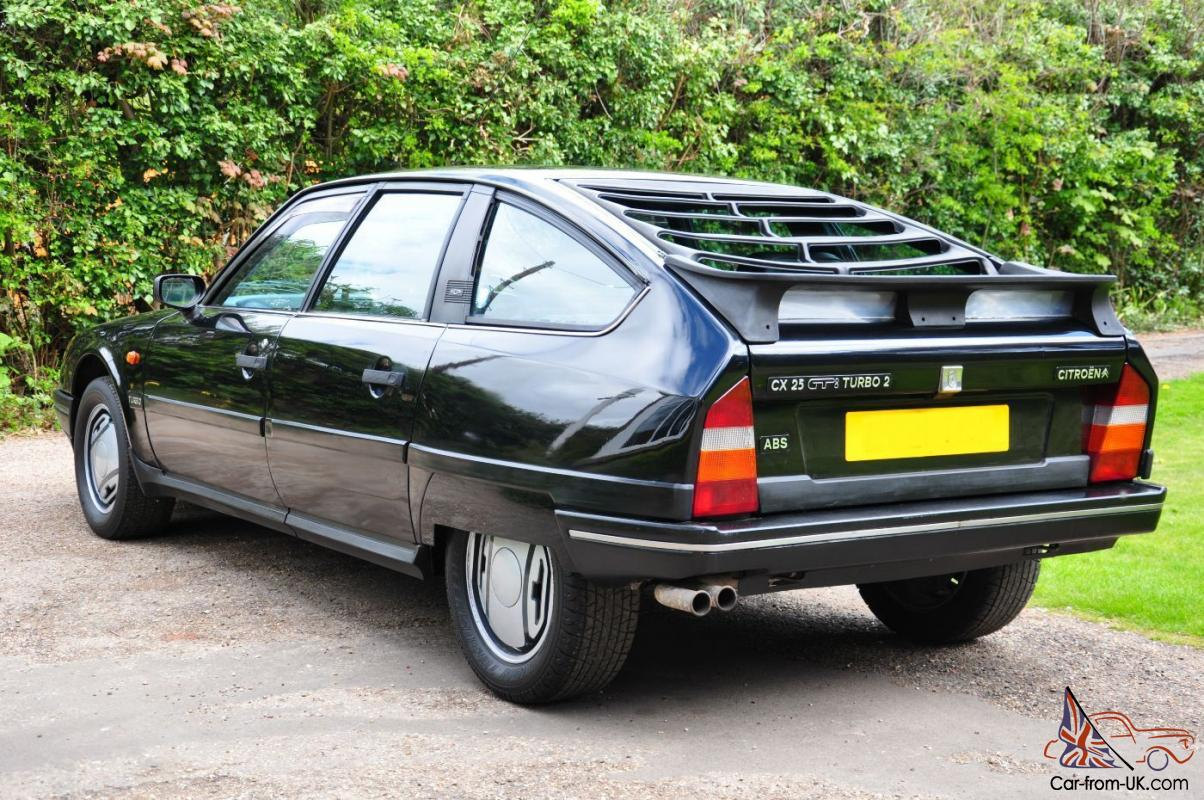 1988 citroen cx 25 gti turbo 2 black with black leather and working aircon. Black Bedroom Furniture Sets. Home Design Ideas