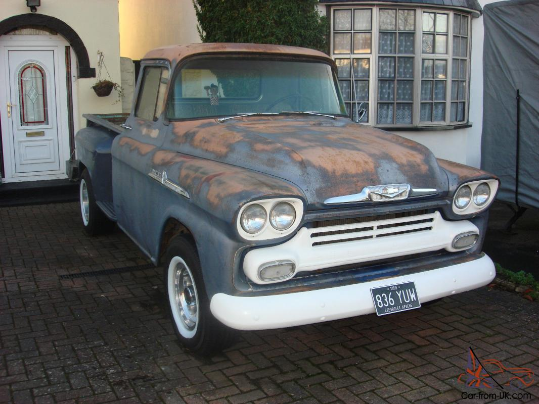 1958 chevrolet apache 36 step side px yank classic why. Black Bedroom Furniture Sets. Home Design Ideas
