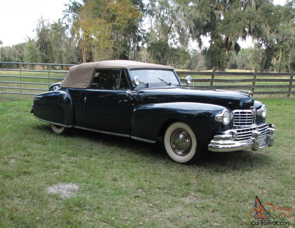 1948 Lincoln Continental Convertible Super Original Survivor