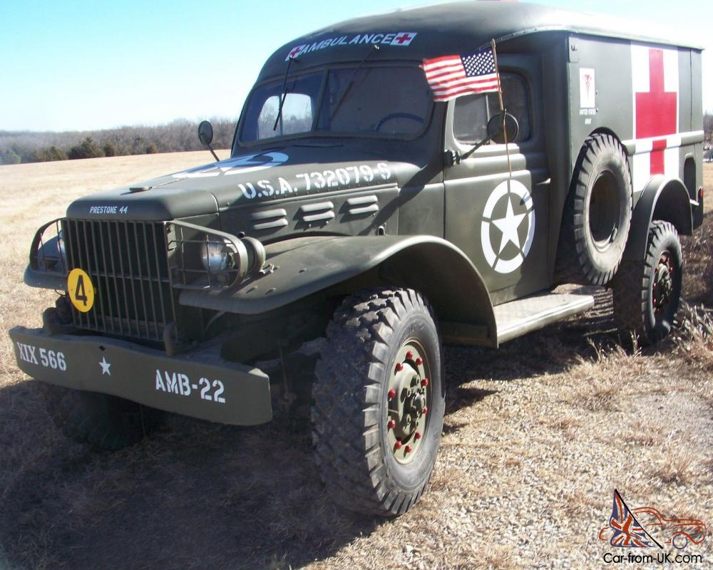 1943 Dodge WC54 US Army Ambulance Survivor from Norway!