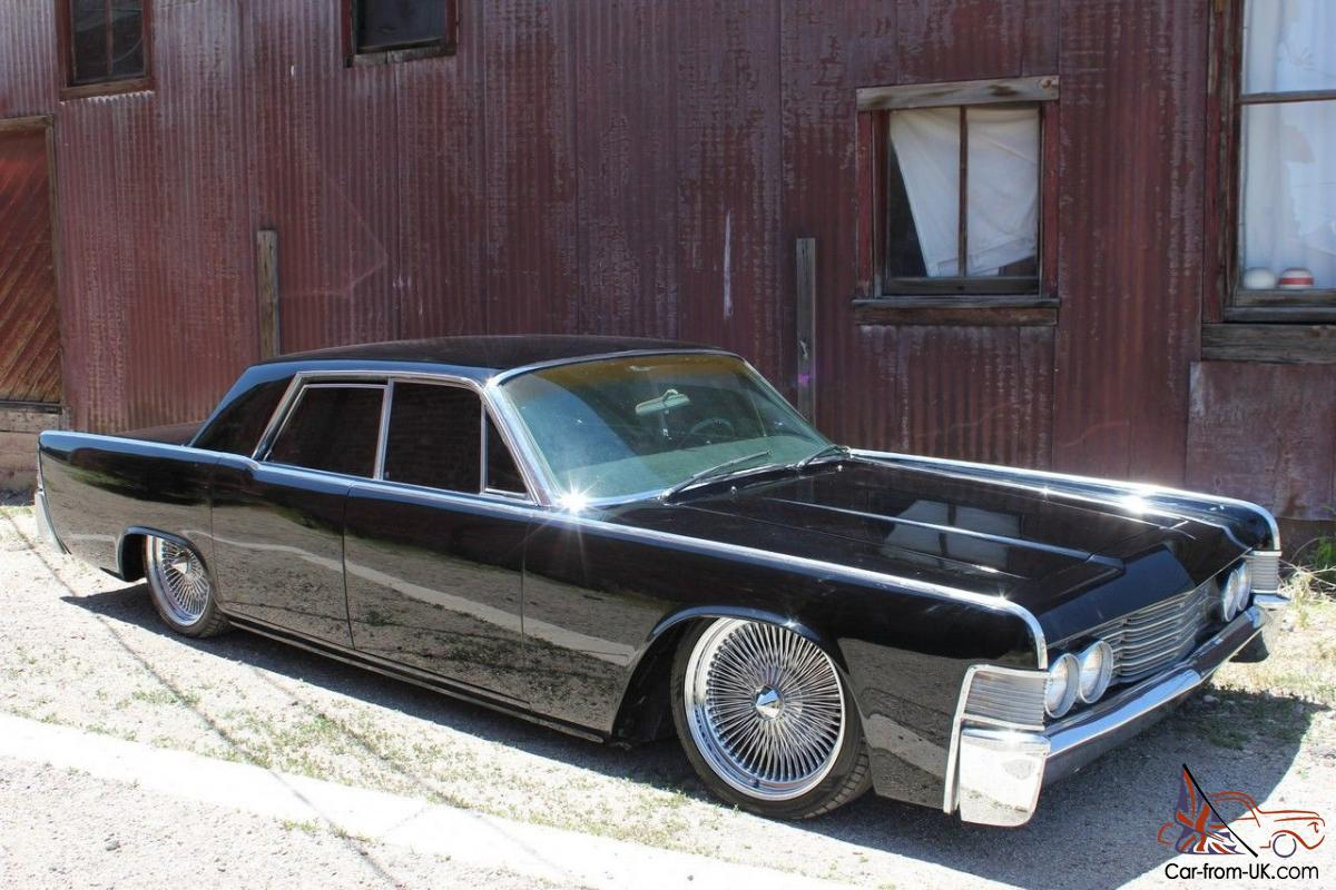 Marvelous 1965 Lincoln   Fuel Injected 460   Air Ride   Bagged   Suicide Doors Black