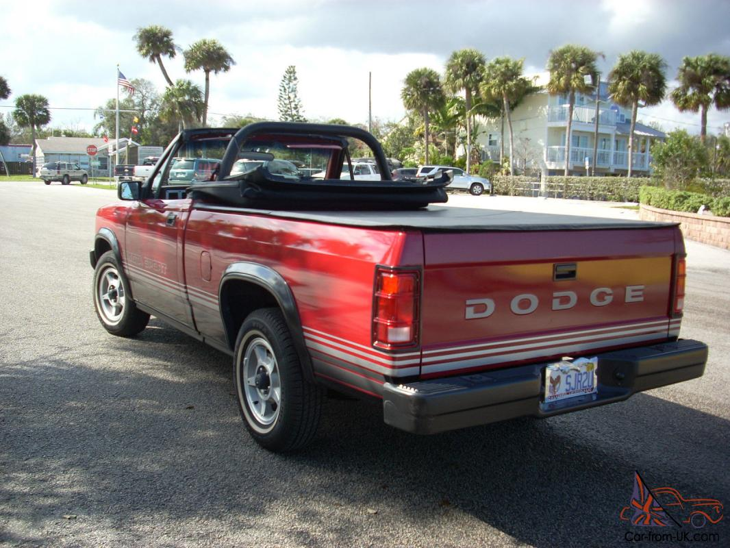 1989 dodge dakota sport convertible red auto 2 wd like new 17 300. Cars Review. Best American Auto & Cars Review