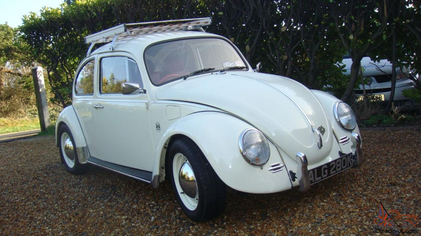 1971 Vw Beetle 1200 Pastel White 1300cc