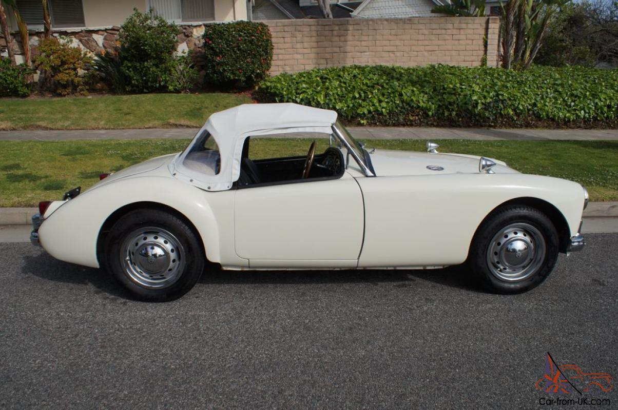 MGA RUST FREE CALIFORNIA CLASSIC BRITISH SPORTS CAR RECENT FULL SERVICE
