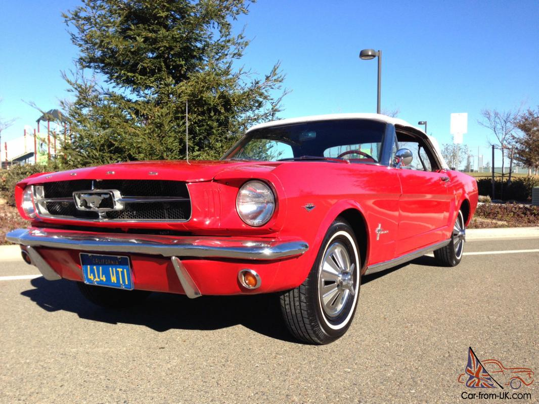 1964 1 2 65 ford mustang convertible 289 v8 power top 50th