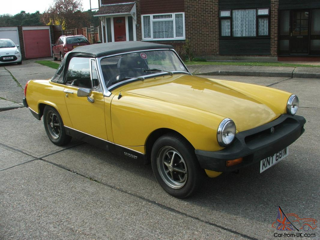 mg midget yellow