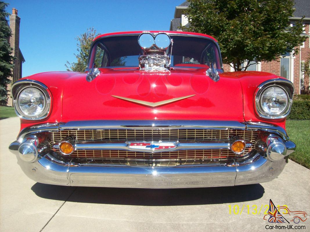 1957 CHEVY BEL AIR STREET ROD PRO STREET PRO TOURING HIGH END SHOW CAR
