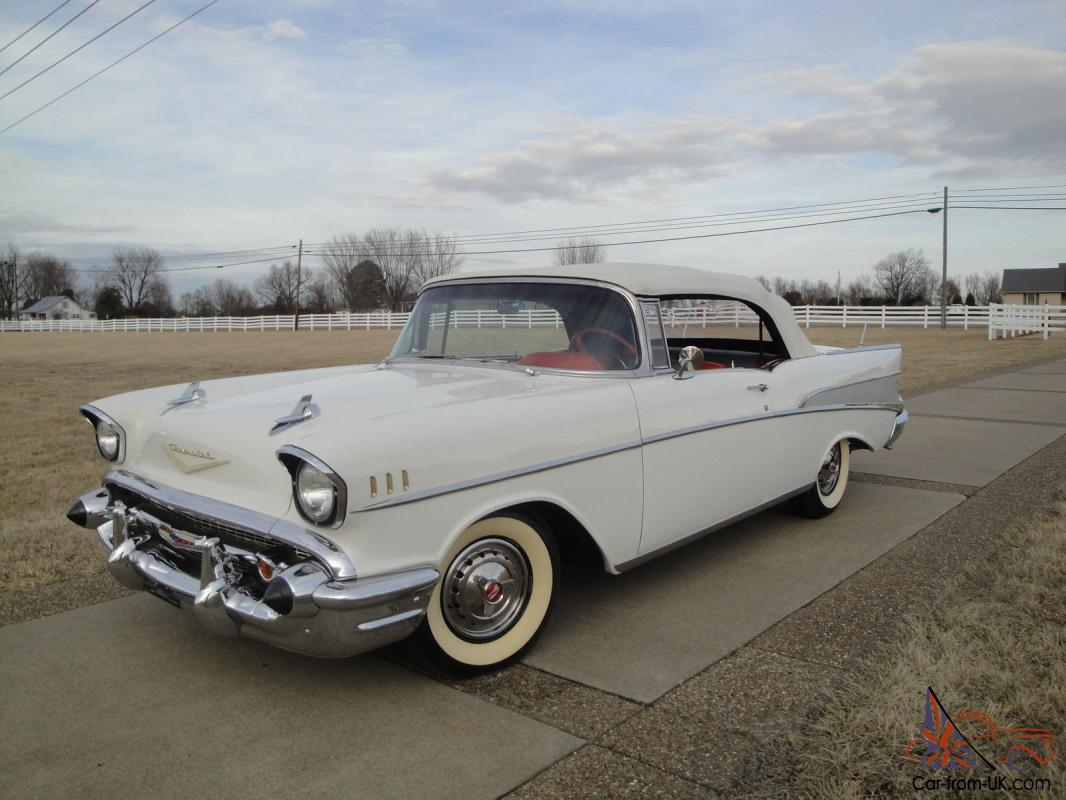 1957 chevy belair convertible hot rod all new frame off. Black Bedroom Furniture Sets. Home Design Ideas