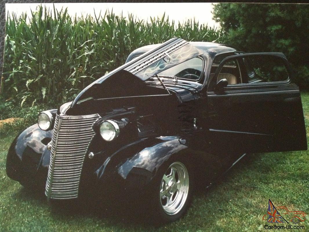 Black All Steel Body 38 Chevy Coupe Street Rod