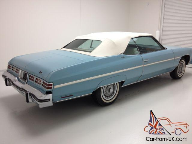 1975 Chevy Caprice Classic Only 23 946 Miles Great