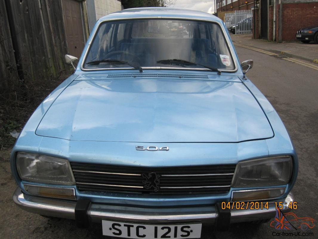 PEUGEOT 504 FAMILY 7 SEATER ESTATE CLASSIC CAR MOT AND TAXED