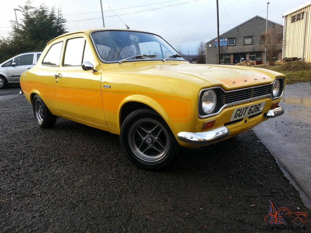 ESCORT MK1 RS2000 REPLICA - YELLOW - TAX EXEMPT