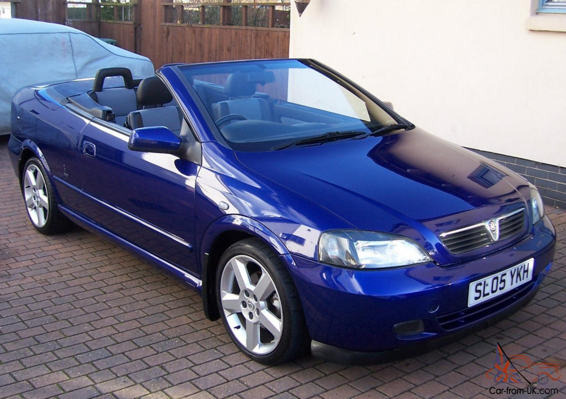 2005 vauxhall astra bertone exclusive horizon blue pearl blue matching soft top. Black Bedroom Furniture Sets. Home Design Ideas