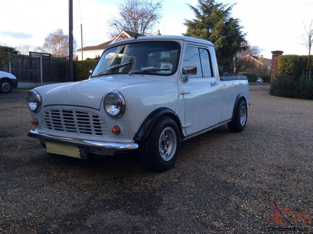 classic mini austin mini pick up leyland mini 1982 x reg. Black Bedroom Furniture Sets. Home Design Ideas