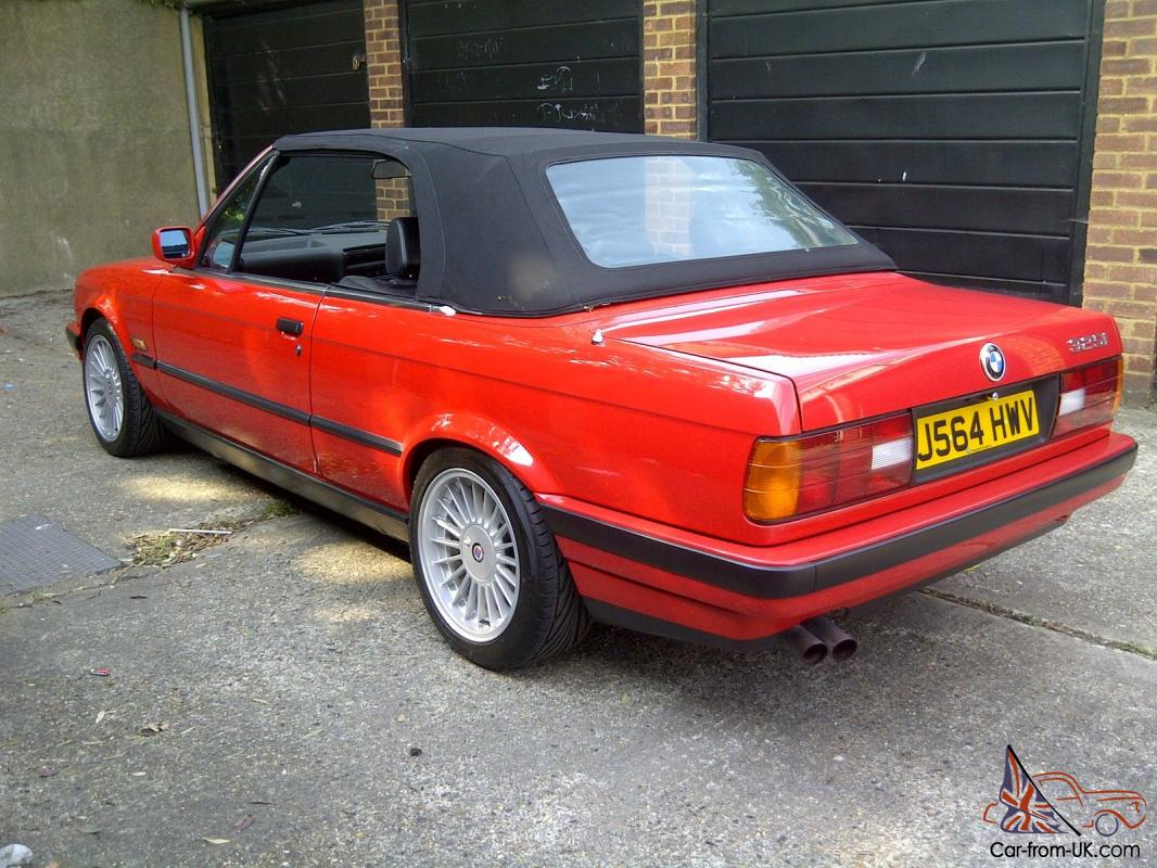 1992 bmw 325i cabriolet auto red. Black Bedroom Furniture Sets. Home Design Ideas
