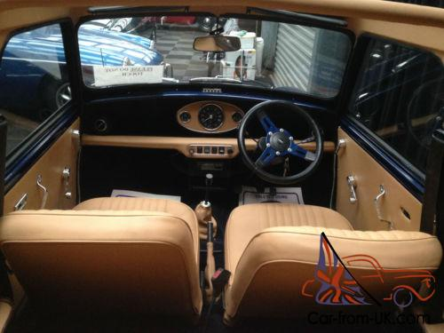 Mini Convertible Stunning Blue 1978 Nut And Bolt Restoration