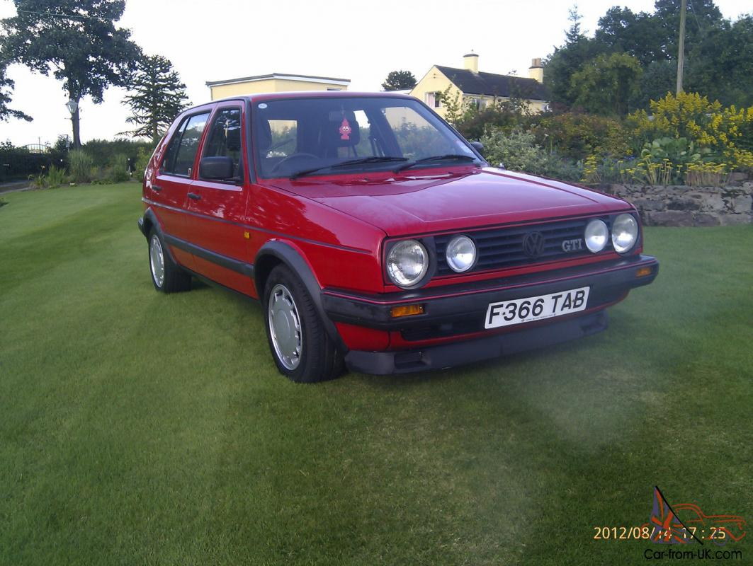 vw golf gti mk2 5 door one family from new 61 000 miles with all paperwork. Black Bedroom Furniture Sets. Home Design Ideas