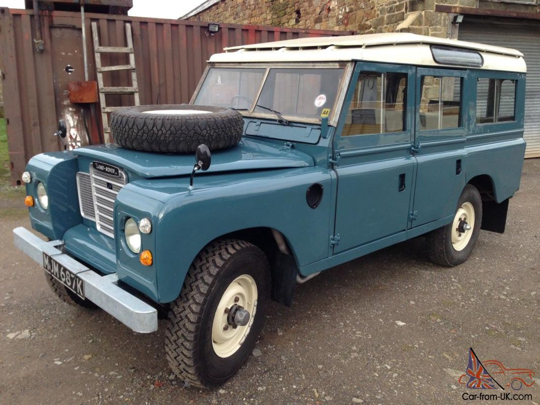 Land rover 109 station wagon ,tax exempt,restored on a *galvanised