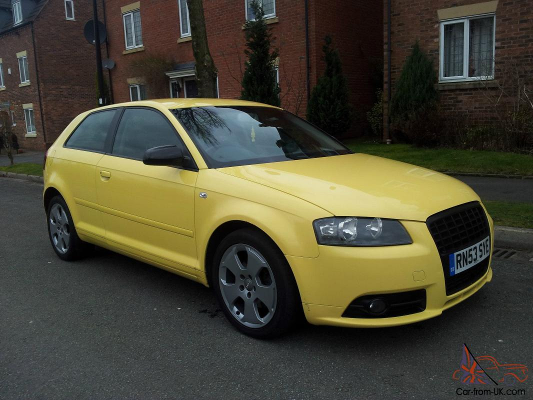 2004 audi a3 2 0 tdi sport manual diesel yellow s line. Black Bedroom Furniture Sets. Home Design Ideas