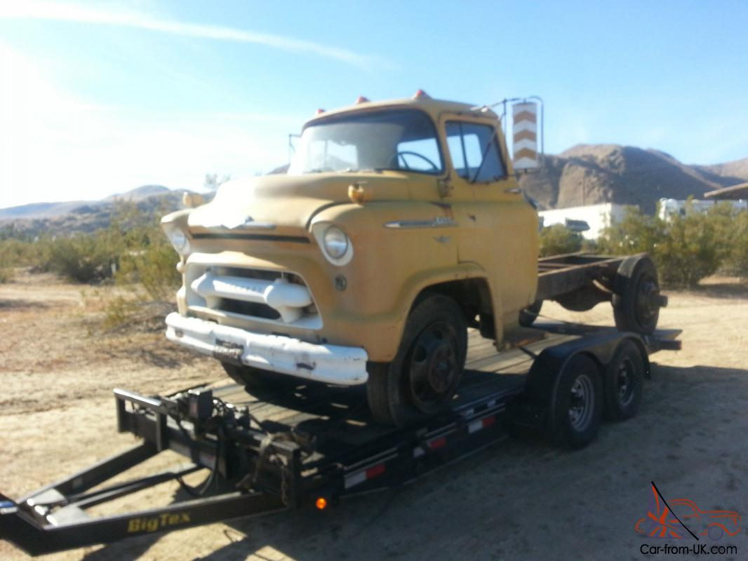 1956 Chevrolet Coe Cab Over Cabover Truck California Task 1949 Ford Force Complete