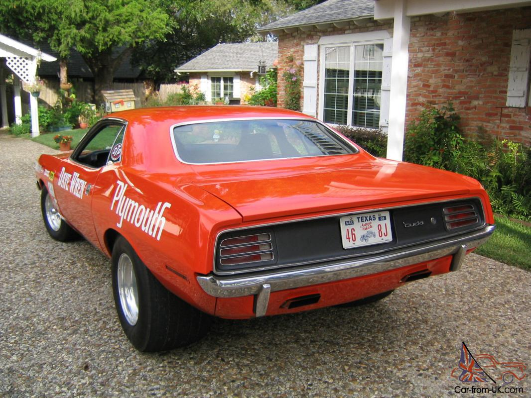 1968 Plymouth Barracuda BO29 Factory Race Car for Sale in ...