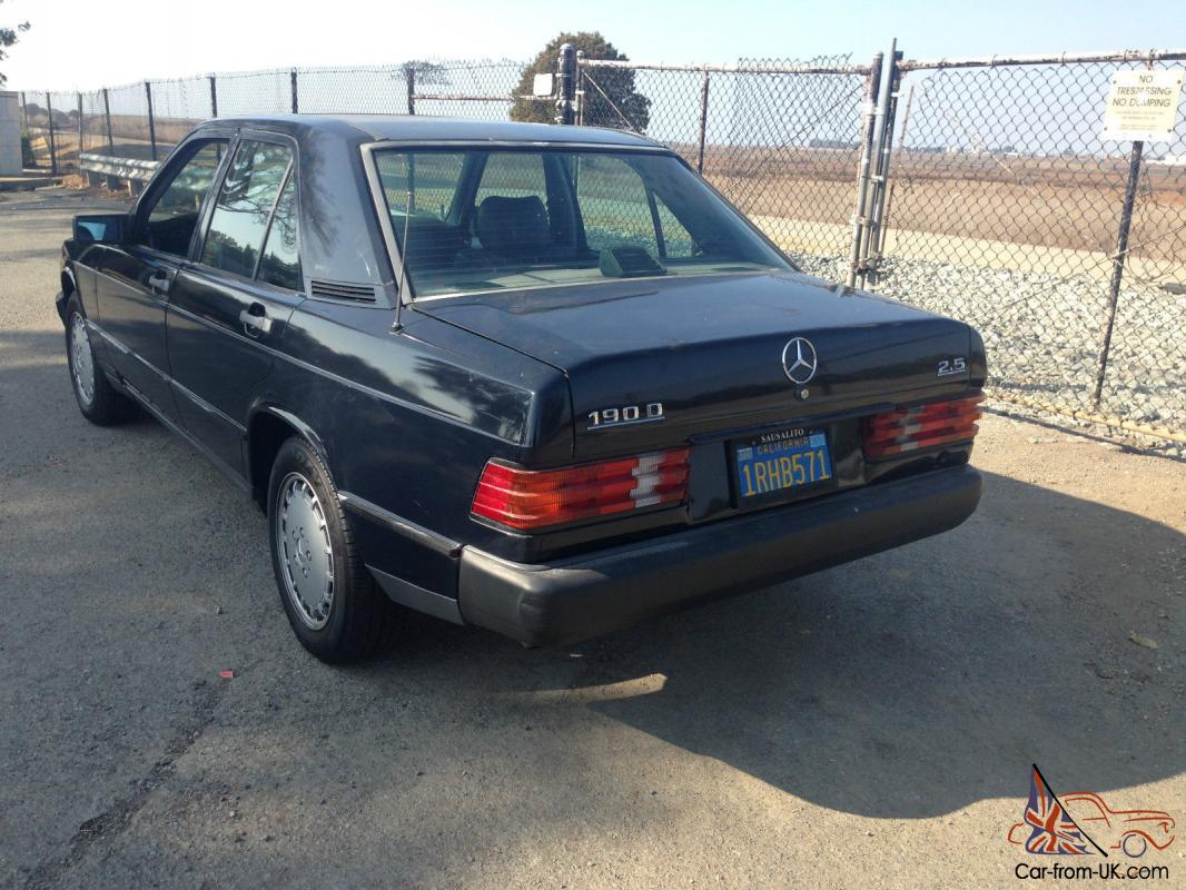Mercedes benz 190 series 190d for Classic mercedes benz for sale ebay