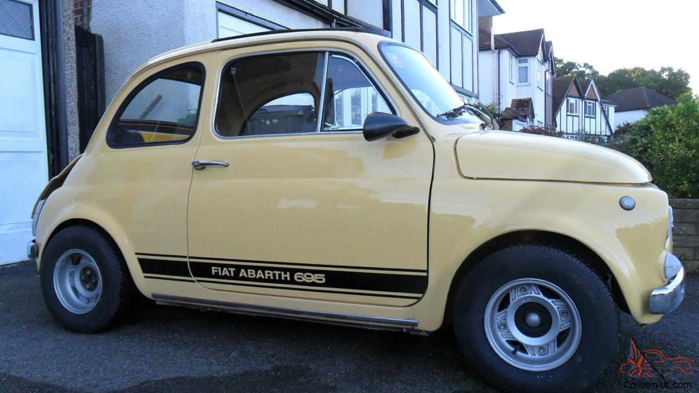 1972 classic fiat 500 abarth features 695. Black Bedroom Furniture Sets. Home Design Ideas
