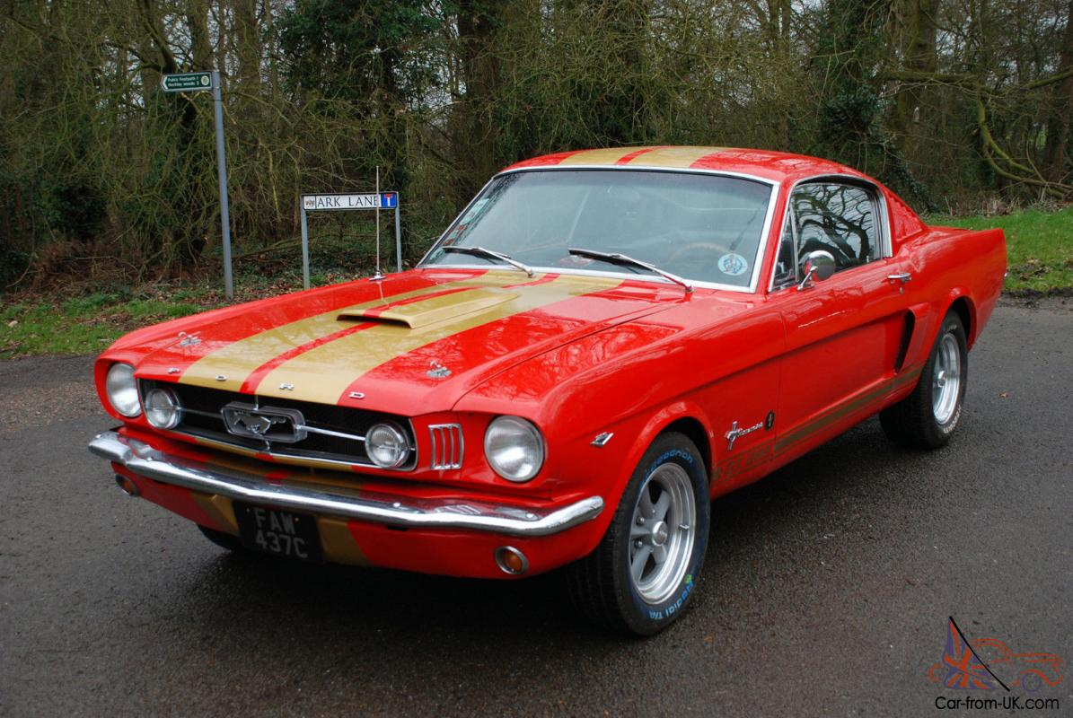 1965 ford mustang 289 auto fastback red samantha. Black Bedroom Furniture Sets. Home Design Ideas