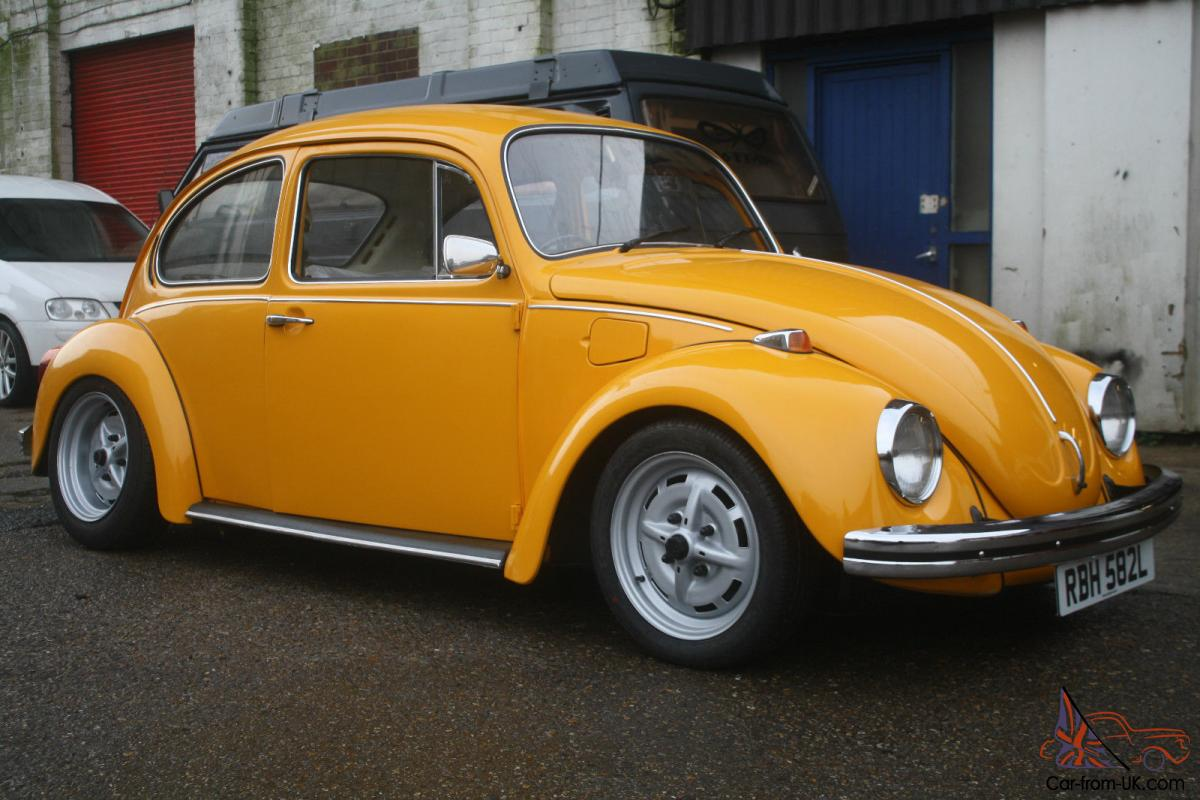 VW Volkswagen GT Beetle 1973 1600 Lemon Yellow