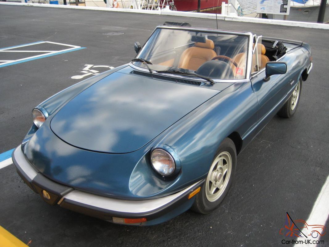 88 alfa romeo spider veloce no reserve. Black Bedroom Furniture Sets. Home Design Ideas