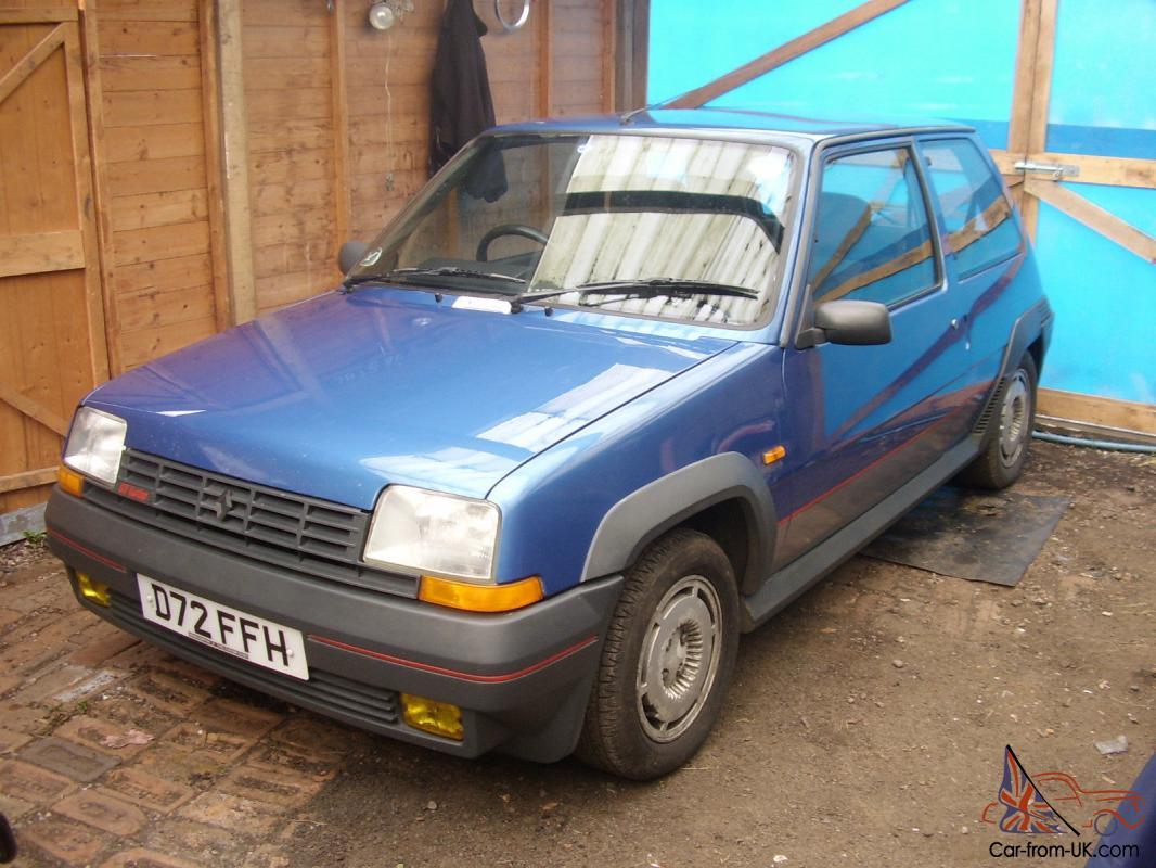 renault 5 gt turbo 1987 all original no modifications one owner from new. Black Bedroom Furniture Sets. Home Design Ideas